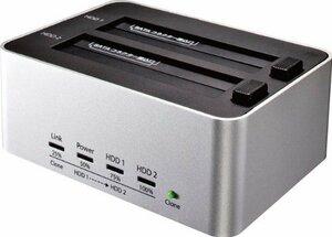 新品銀 クローン機能あり 玄人志向 SSD/HDDスタンド 2.5型&3.5型対応 USB3.0接続 PCレEWIE