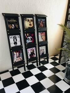 C【マガジンラック】雑誌3冊付き ミニチュア ハンドメイド 1/6 ブライス・poppy parker・Barbie・momoko・リカちゃん・ホットトイズなど