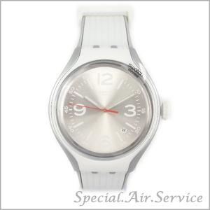 送料無料★Swatch スウォッチ ユニセックス腕時計 GO DANCE ゴーダンス ホワイト×シルバー YES4005