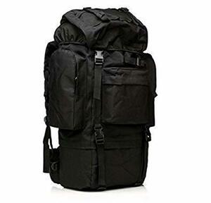 ブラック アウトドア 多機能 登山用バッグ 65L 大容量 防水耐震 雨対策 耐久性優れ レインカバー付 多ポケットアルパイン