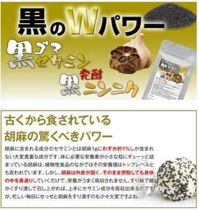 黒ゴマセサミン&発酵黒ニンニク 約1ヵ月分 栄養強壮 美容ケア 健康食品 サプリメント