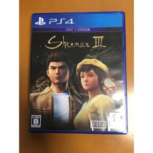 送料無料 PS4 シェンムーⅢ Shenmue3 リテールDay1エディション バーチャファイターの鈴木裕監督脚本 セガ SEGA 即決 匿名配送 動作確認済