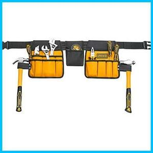 ★最安★★色:腰袋★ 3段 小物入れ DIY 工具バッグ 工具入れ ツールバッグ HY-873 防水仕様 14ポケット 腰袋 作業袋 釘袋 INGCO HTBP02031