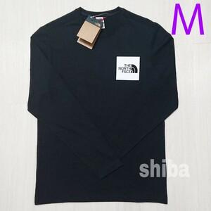 THE NORTH FACE ノースフェイス 長袖 ロンT ロング tシャツ ブラック 黒 ファイン Fine 海外Mサイズ
