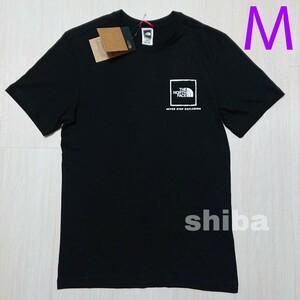 THE NORTH FACE ノースフェイス tシャツ 半袖 黒 ブラック 人気 ファイン Fine ボックスロゴ 海外Mサイズ