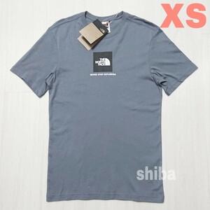THE NORTH FACE ノースフェイス tシャツ 半袖 グレー 灰色 ファイン Fine ボックスロゴ 海外XSサイズ