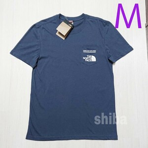 THE NORTH FACE ノースフェイス tシャツ 半袖 海外限定 ブルー ポケット ポケットtシャツ POCKET 海外M