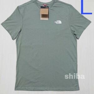 THE NORTH FACE ノースフェイス tシャツ 半袖 グリーン 緑 simple dome シンプルドーム 海外Lサイズ