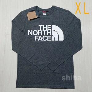 THE NORTH FACE ノースフェイス 長袖 ロンT グレー 灰色 スタンダード standard 海外XLサイズ