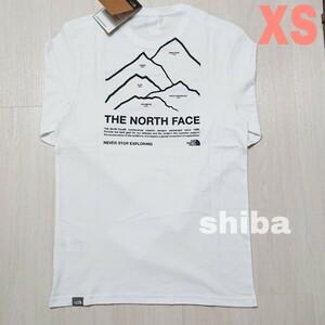 THE NORTH FACE ノースフェイス 長袖 ロンT ロング tシャツ 白 ホワイト ピークス Peaks 海外XSサイズ