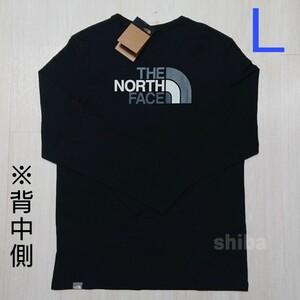 THE NORTH FACE ノースフェイス 長袖 ロンT ロング tシャツブラック 黒 イージー Easy 海外Lサイズ