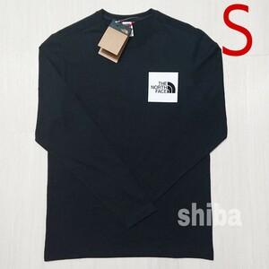 THE NORTH FACE ノースフェイス 長袖 ロンT ロング tシャツ ブラック 黒 ファイン Fine 海外Sサイズ