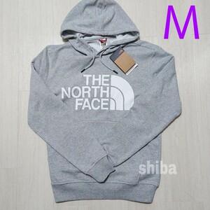 THE NORTH FACE ノースフェイス プルオーバー パーカー 長袖 グレー 灰色 海外モデル 裏起毛 フード 海外Mサイズ