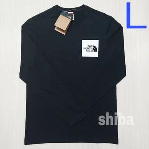 THE NORTH FACE ノースフェイス 長袖 ロンT ロング tシャツ ブラック 黒 ファイン Fine 海外Lサイズ