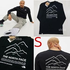 THE NORTH FACE ノースフェイス 長袖 ロンT ロング tシャツ 黒 ブラック ピークス Peaks 海外Sサイズ