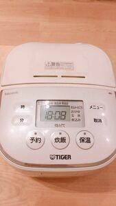 【値下げしました!炊飯器】タイガーTacook マイコン炊飯ジャー JBU-A550 ホワイト 三合