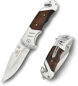 ☆新品☆MOSSY OAK ナイフ 折りたたみナイフ ステンレスブレード サテン仕上げ サムスタッド付