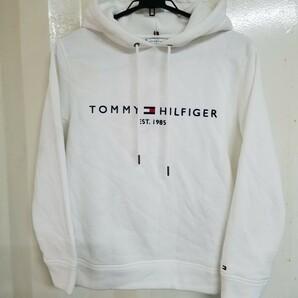 【美品】TOMMY HILFIGER パーカー 裏起毛 白 XS