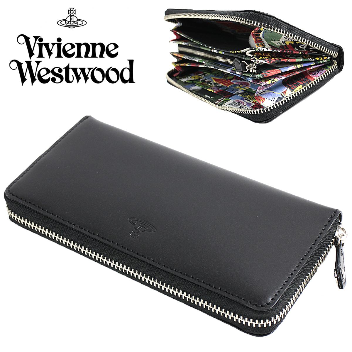 新品 ヴィヴィアン ウエストウッド メンズ 長財布 ラウンドウォレット Vivienne Westwood プロテスト オーブ ブラック 紳士 ◆VWK143-10