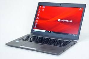 【即配】2018年モデル!第8世代Corei5+SSD256GB+8GBメモリ搭載!dynabook R63/M i5-8250U カメラ 指紋認証 Office Win10
