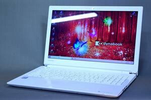 【即配】第7世代CPU+8Gメモリ!15.6型液晶 dynabook AZ45/CW i3-7100U DVDマルチ カメラ 10キー Office Win10