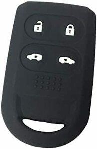 ブラック ZIAN ホンダ車用 両側スライドボタン用 シリコン製スマートキーケース ステップワゴン/エリシオン/フリードなど専用