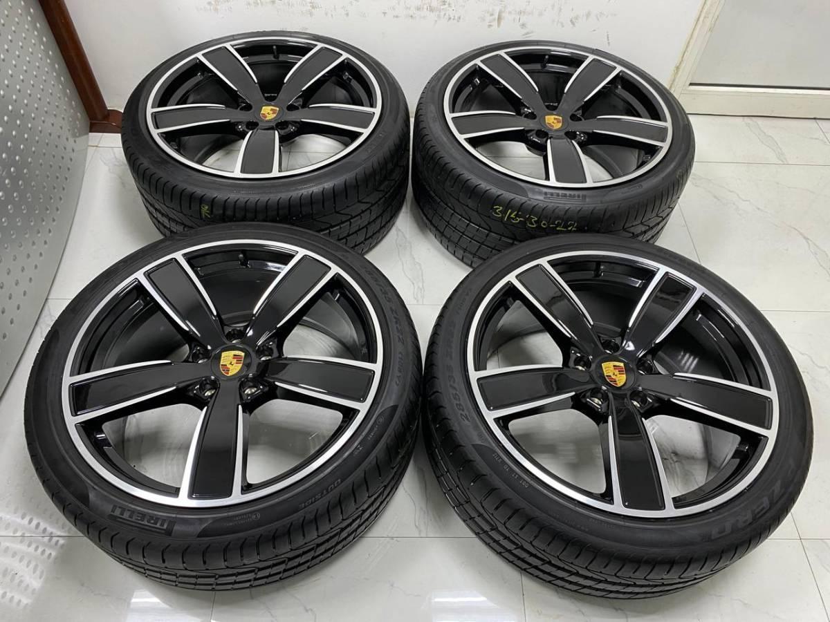 ★ 超高級品 ★ポルシェ カイエン E3 9Y0 SPORT 純正22インチホイール4本セットラジアルタイヤ付き Porsche cayane sport