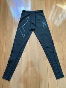 送料込み☆2XU メンズ タイツ L黒色 ブラック コンプレッションウェア マラソン ランニング ジョギング トレーニング