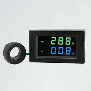 新品 好評 LCD画面 DROK T-31 100A電流センサトランス付け 2線式デジタル電圧アンプモニタパネル デジタルマルチメ-タ 電圧計電流計