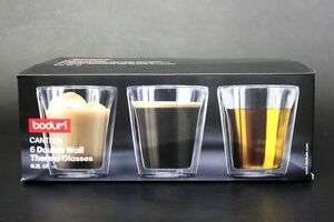 BODUM ボダム CANTEEN キャンティーン ダブルウォール グラス Double Paroi 200ml 6個セット