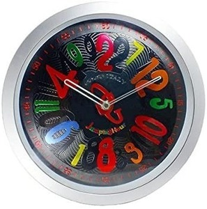 Kちま4338 新品 COGU/コグ クレージークロック ジャンピングアワー アナログ クオーツ 掛け時計 SGW-C001-BCL ブラック 直径255mm