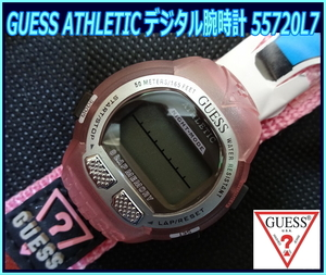 Kちゆ3064 新品・未使用 GUESS ATHLETIC デジタル式腕時計 55720L7 ゲス レディース メンズ 男女兼用 スポーツウォッチ メール便 送料¥280