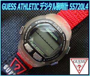 Kちゆ3062 新品・未使用 GUESS ATHLETIC デジタル式腕時計 55720L4 ゲス レディース メンズ 男女兼用 スポーツウォッチ メール便 送料¥280
