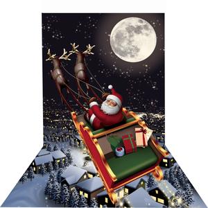 ★クリスマス限定!トリック3Dアートシート 設置も撤去も簡単です!各種イベントにも最適です★