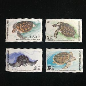タイ《野生動物保護》SCOTT#1139-42/4種完/1986年/未/NH