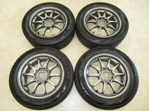 light weight * forged!RAYS Volkracing CE28N 7J-16 off+42 pcd114.3/5H 205/55R16 studless attaching 4ps.@ Silvia, Skyline, Civic other!