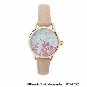 星のカービィ 時計 ウォッチ 腕時計 pupupu gift レザー調ベルトウォッチ 革ベルト ベージュ カービィ イッツデモ ベルト