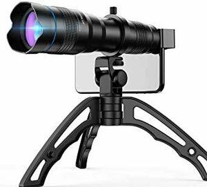 新品 36X Apexel 36倍HD望遠レンズ 望遠鏡 単眼鏡 三脚付き スマホ用カメラレンズ クリップ式 調整可7KCV