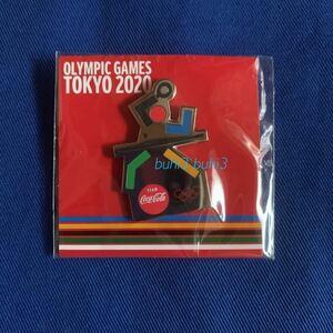 コカ・コーラ 2020 東京オリンピック ピンバッジ ♪『卓球』ピントレーディング☆