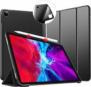 ブラック iPad Pro 11 ケース 2020 Apple Pencil 収納 ペンの充電に対応 薄型 軽量 PUレザーカバ