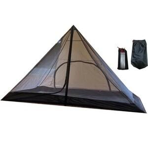 キャンプ用メッシュテント、ワンポールテント、インナーテント2人用