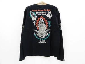 ブラッドメッセージ 長袖Tシャツ BLLT-990 タトゥー 聖母マリア エフ商会 ロンtee 黒 新品 多少汚れ 値引品 即決 送料無料 46(XXLサイズ)