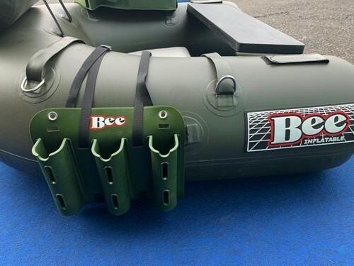 軽さ重視!BEE軽量3本ロッドホルダー&4ポジションに取付できる、ベルト付き