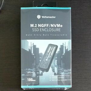 Yottamaster SATA&NVMe両対応 M.2 SSDケース USB3.1 Gen2 10Gbps