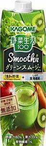 新品1000g×6本 カゴメ 野菜生活100 Smoothie グリーンスムージーMix 1000g ×7FFW