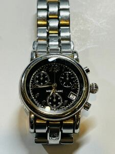 モンブラン クォーツ メンズ腕時計 ボーイズサイズ クロノグラフ