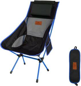 . AnYoker 006 キャンプ椅子 携帯便利 登山 お釣り 収納袋付属 枕付き 折りたたみ アウトドアチェア 162