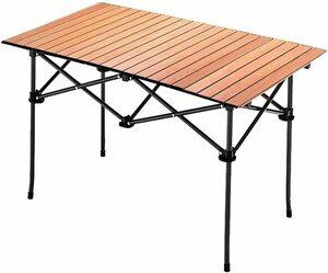 . Taimonik 自宅勤務 テレワーク BBQ キャンプ 用 キャンプ ー ロールテーブル アウトドアテーブル 66