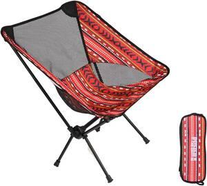 . Pufier Red キャンプ椅子 携帯便利 登山 お釣り 収納袋付属 選 超軽量 折りたたみ アウトドアチェア 313