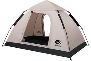 . GOGlamping グリーン/カーキレッド/カーキブラック 3色可選 袋付属 1-2 ワンタッチテント テント 2636